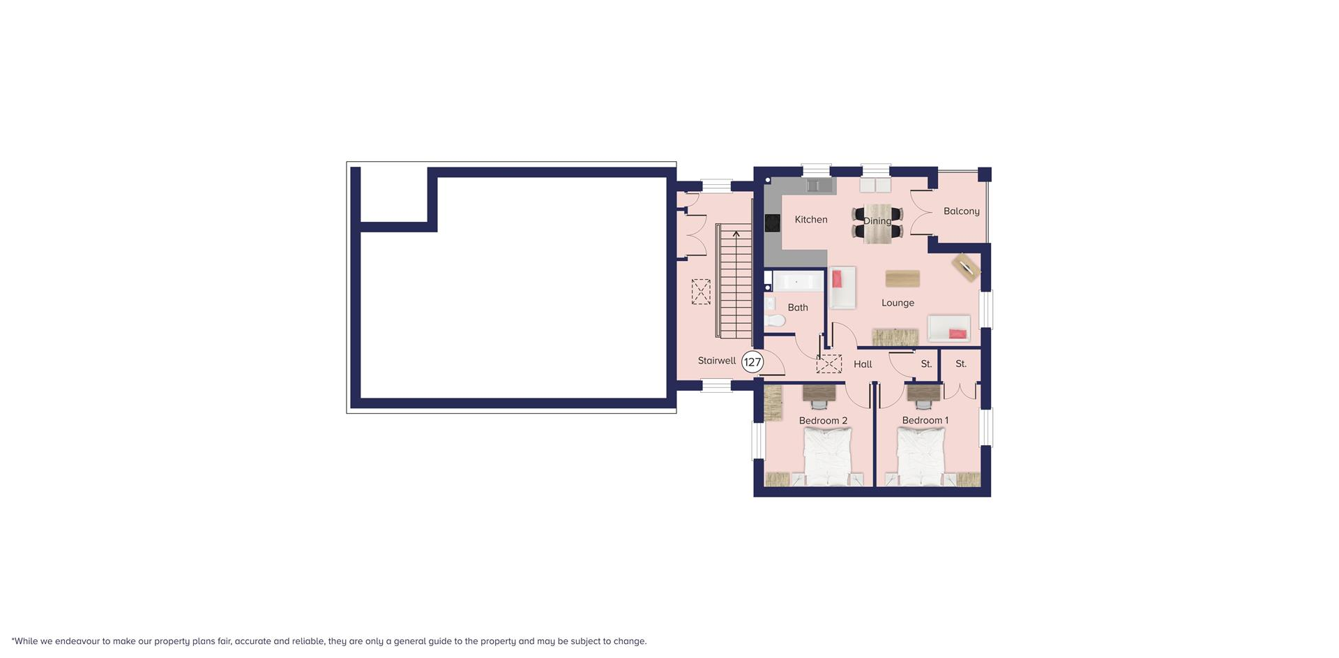 Kingfisher Grange, Bursledon_Floor plate_Plot 127_